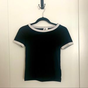 H&M Cropped crew neck T- shirt
